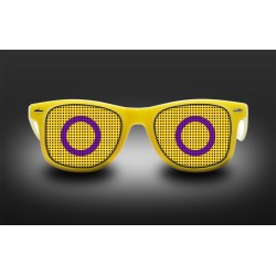 Pride eyeglasses - Intersex - flag