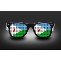 Lunettes de supporter - Djibouti - Drapeau