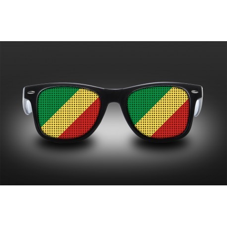 Supporter eyeglasses - Republic of the Congo - flag