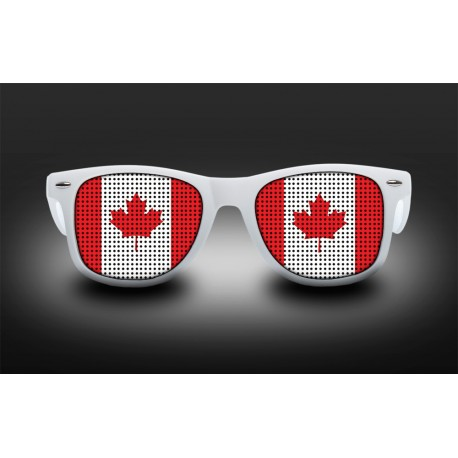 Lunettes de supporter - Canada - Drapeau
