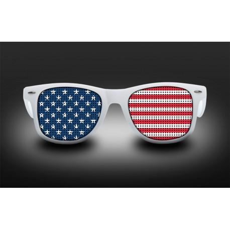 Supporter Eyeglasses - USA - Flag