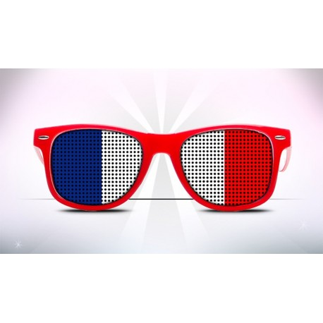 Supporter Eyeglasses - French - Flag