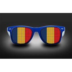 Lunettes de supporter - Roumanie - Drapeau