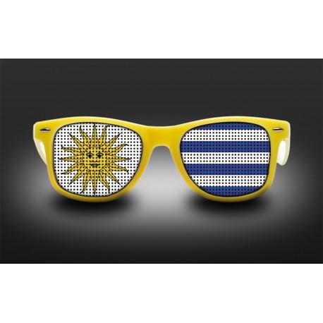 Lunettes de supporter - Uruguay - Drapeau