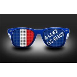Lunettes - Allez les bleus + drapeau