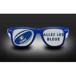 Lunettes - Allez les bleus - rugby