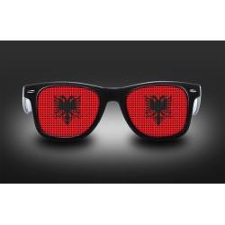 Lunettes de supporter - Albanie - Drapeau