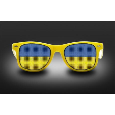 Lunettes de supporter - Ukraine - Drapeau