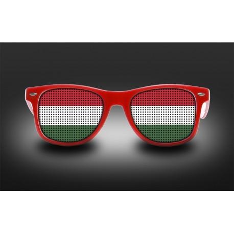 Lunettes de supporter - Hongrie - Drapeau