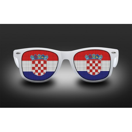 Lunettes de supporter - Croatie - Drapeau