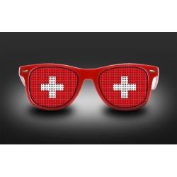 Lunettes de supporter - Suisse - Drapeau