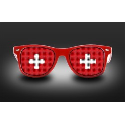 Supporter Eyeglasses - Swiss - Flag