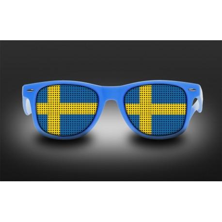 Lunettes de supporter - Suède - Drapeau