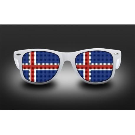 Lunettes de supporter - Islande - Drapeau