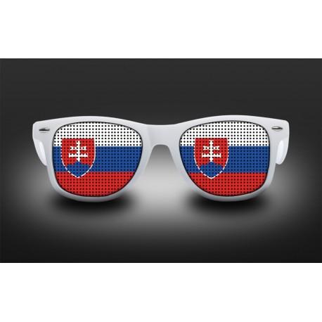 Lunettes de supporter - Slovaquie - Drapeau
