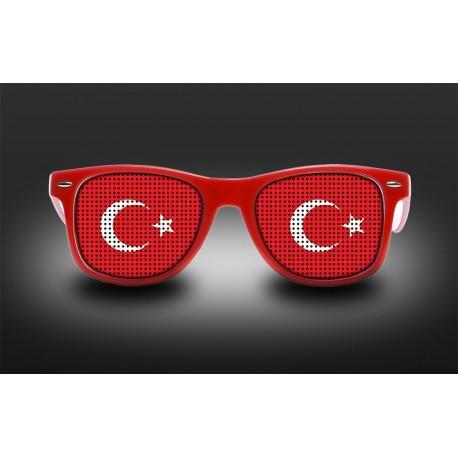 Lunettes de supporter - Turquie - Drapeau