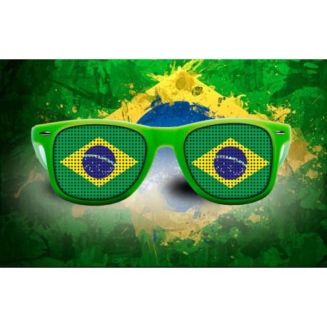 Lunettes de supporter - Brésil - Drapeau