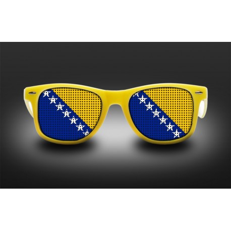 Supporter eyeglasses - Bosnia and Herzegovina - flag