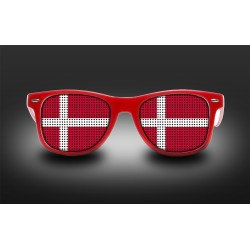Supporter eyeglasses - Denmark - flag