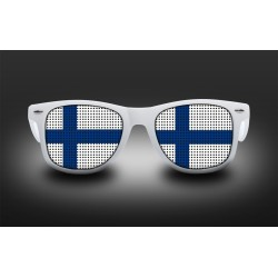 Lunettes de supporter - Finlande - Drapeau