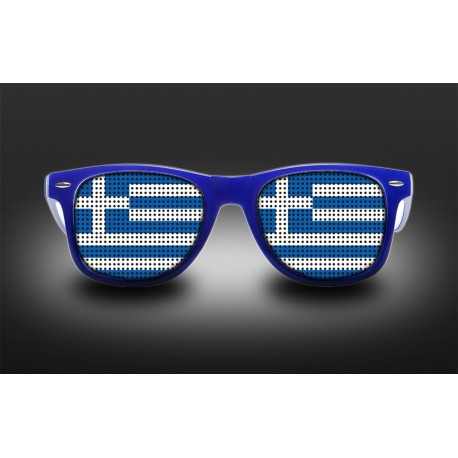 Supporter eyeglasses - Greece - flag