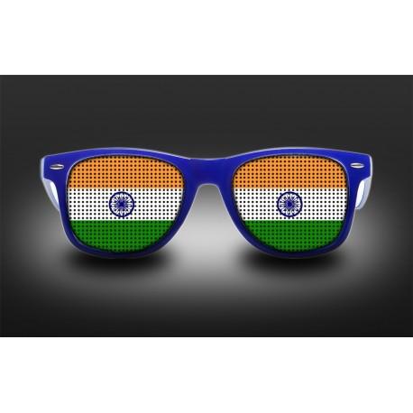 Supporter eyeglasses - India - flag