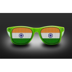 Supporter eyeglasses - India - flag