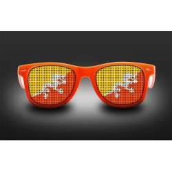 Supporter eyeglasses - Bhutan - flag