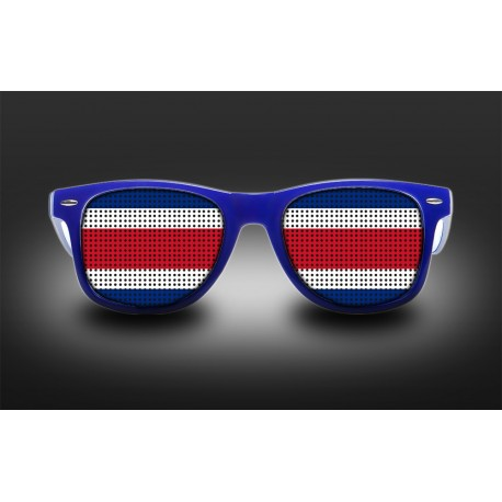 supporter s eyeglasses costa rica flag