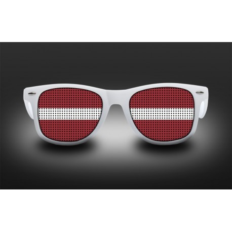 Supporter eyeglasses - Latvia - flag