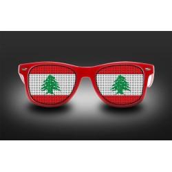 Lunettes de supporter - Liban - Drapeau