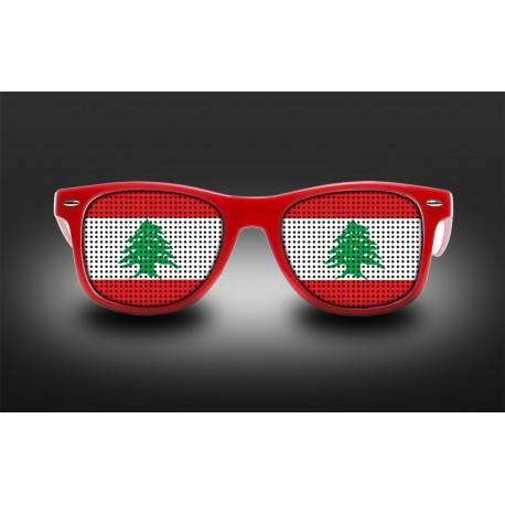 Supporter eyeglasses - Lebanon - flag
