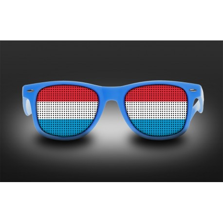 Supporter eyeglasses - Luxembourg - flag