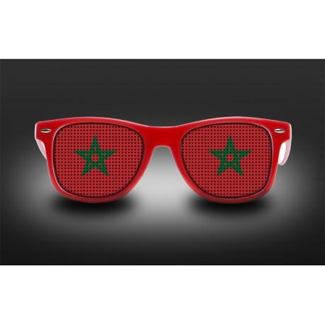 Lunettes de supporter - Maroc - Drapeau