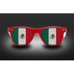 Lunettes de supporter - Mexique - Drapeau