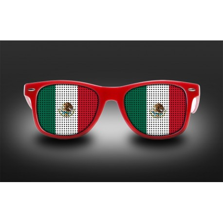 Supporter eyeglasses - Mexico - flag