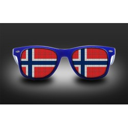 Lunettes de supporter - Norvège - Drapeau