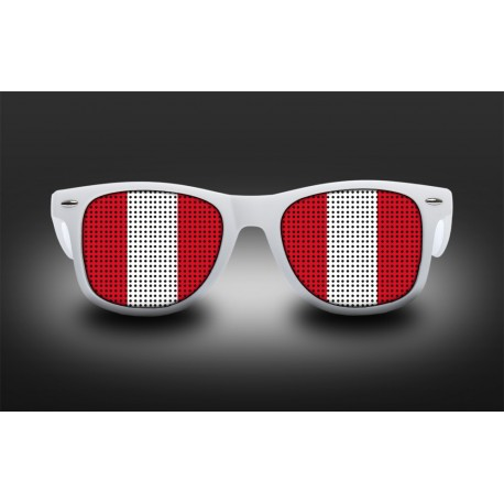 Supporter eyeglasses - Peru - flag
