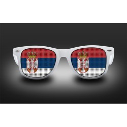 Supporter eyeglasses - Serbia - flag