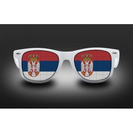 Lunettes de supporter - Serbie - Drapeau