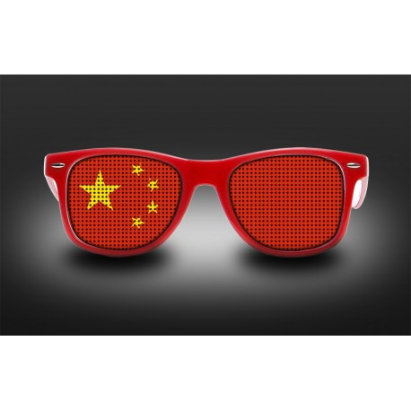 Supporter eyeglasses - China - flag
