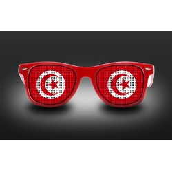 Supporter eyeglasses - Tunisia - flag