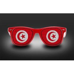 Supporter eyeglasses - Tunisia - flag