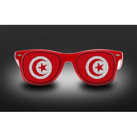 Lunettes de supporter - Tunisie - Drapeau