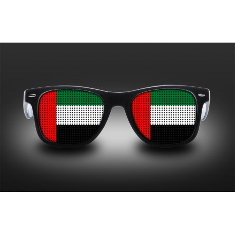 Supporter eyeglasses - United Arab Emirates - flag