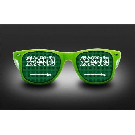 Supporter eyeglasses - Saudi Arabia - flag