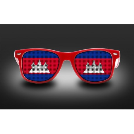 Supporter eyeglasses - Cambodia - flag