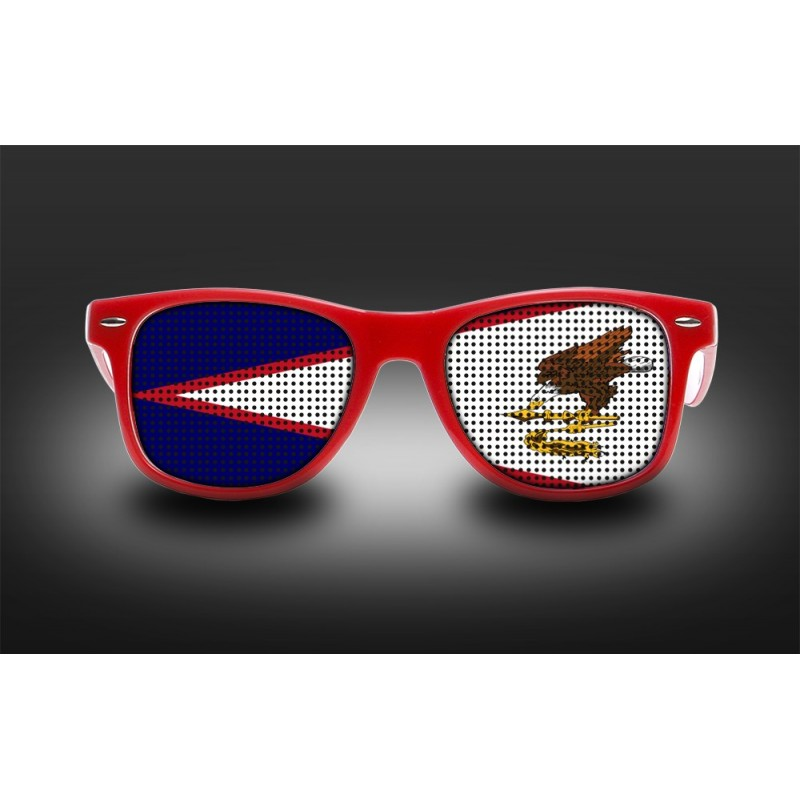 Supporters eyeglasses  American Samoa  Flag