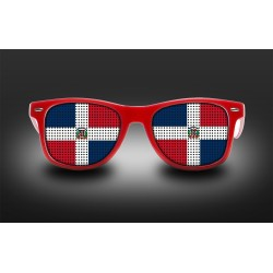 Supporter eyeglasses - Dominican Republic - flag