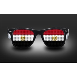 Supporter eyeglasses - Egypt - flag